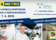 METRO HORECA sympózium – Hotel Sitno