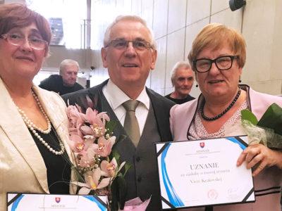 Najvyššie ocenenia ministra dopravy avýstavby SR za celoživotný prínos pre rozvoj cestovného ruchu na Slovensku