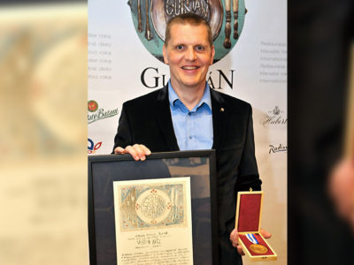 """Prestížne ocenenie"""" GURMAN AWARD GRAND PRIX 2018 – cena za celoživotné dielo"""" bolo udelené prezidentovi  SZKC Vojtovi Artzovi"""