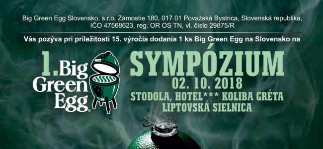 Pozvánka Big Green Egg Slovensko