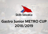 Vyhlásenie súťaže GASTRO JUNIOR METRO CUP