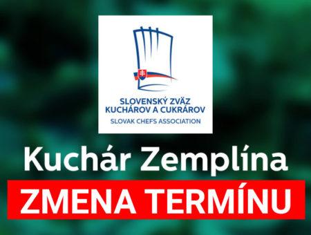 Kuchár Zemplína 2019 – ZMENA TERMÍNU