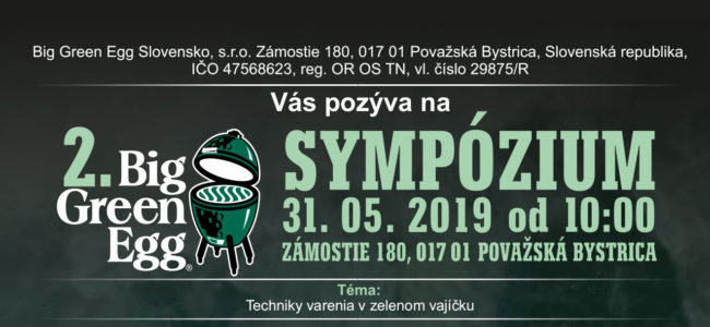 BIG GREEN EGG Sympózium 2019