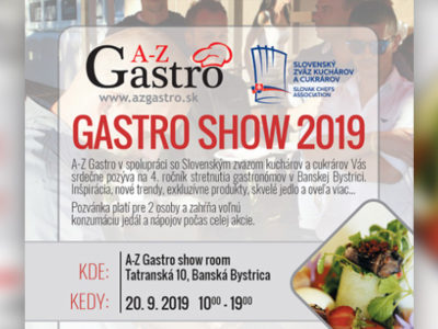 POZVÁNKA GASTRO SHOW 2019