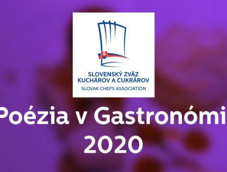 Vyhlásenie súťaže Poézia v Gastronómii 2020