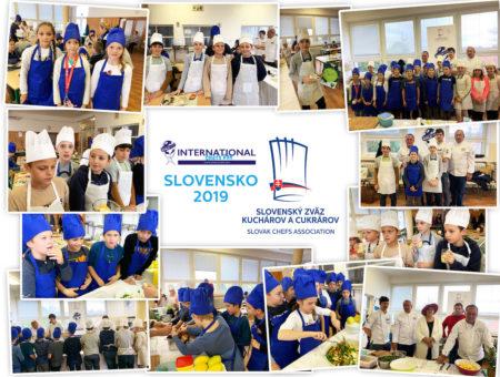 Slovenský zväz kuchárov a  oslávil Medzinárodný deň kuchárov 2019 v spoločnosti deti zo Základnej školy na Mudroňovej ul. v Bratislave