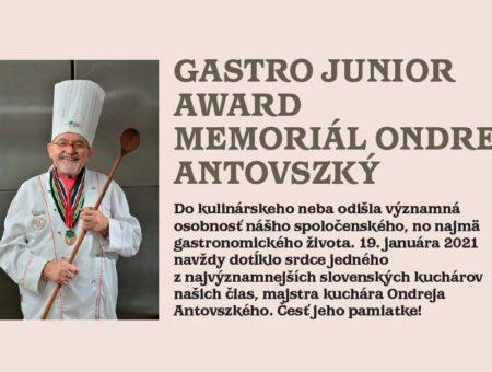 Vyhlásenie súťaže GASTRO JUNIOR AWARD – memoriál Ondreja Antovszkého